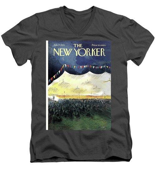 New Yorker July 25th, 1970 Men's V-Neck T-Shirt