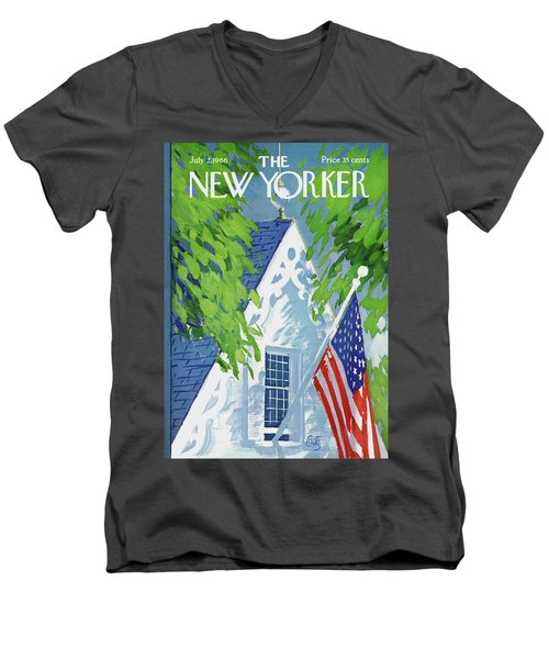 New Yorker July 2nd, 1966 Men's V-Neck T-Shirt