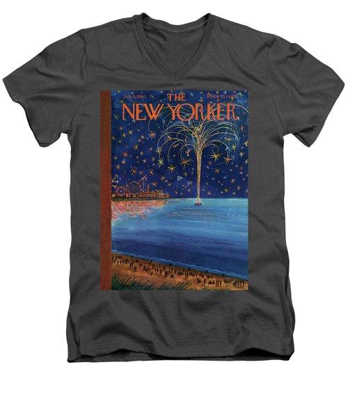New Yorker July 6th, 1963 Men's V-Neck T-Shirt