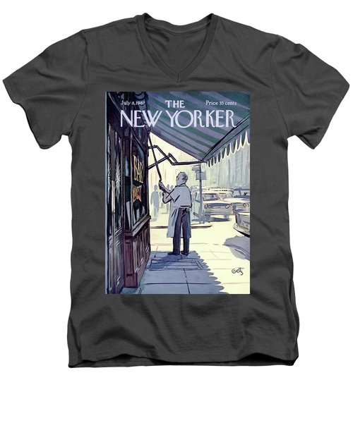 New Yorker July 8th, 1967 Men's V-Neck T-Shirt