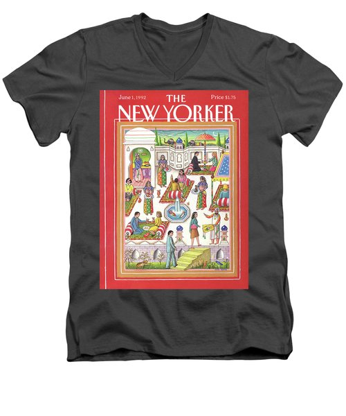 New Yorker June 1st, 1992 Men's V-Neck T-Shirt