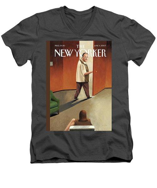 New Yorker June 4th, 2007 Men's V-Neck T-Shirt