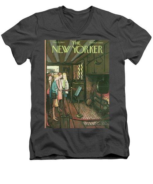 New Yorker March 23rd, 1963 Men's V-Neck T-Shirt