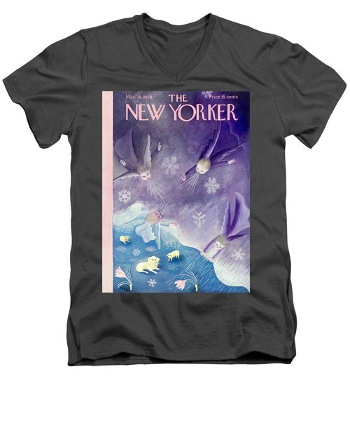 New Yorker March 30 1940 Men's V-Neck T-Shirt