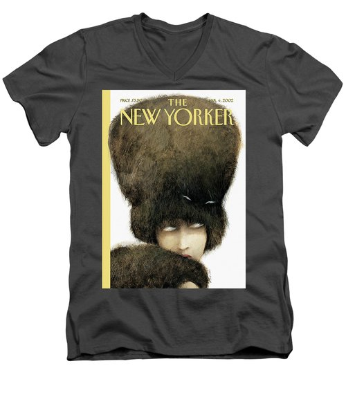 New Yorker March 4th, 2002 Men's V-Neck T-Shirt