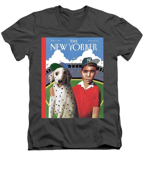 New Yorker May 1st, 1995 Men's V-Neck T-Shirt
