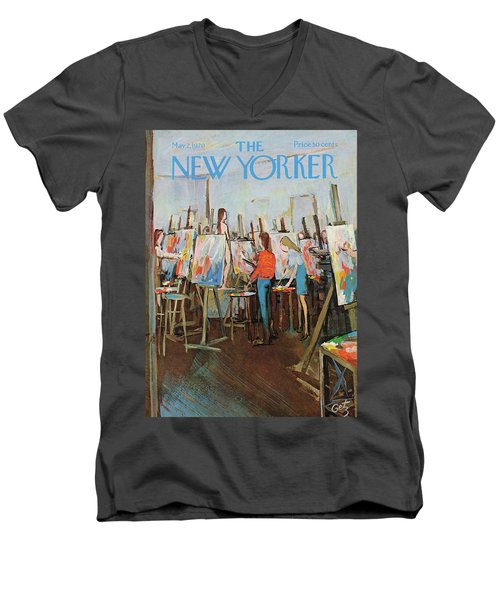 New Yorker May 2nd, 1970 Men's V-Neck T-Shirt