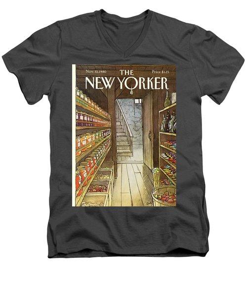 New Yorker November 10th, 1980 Men's V-Neck T-Shirt