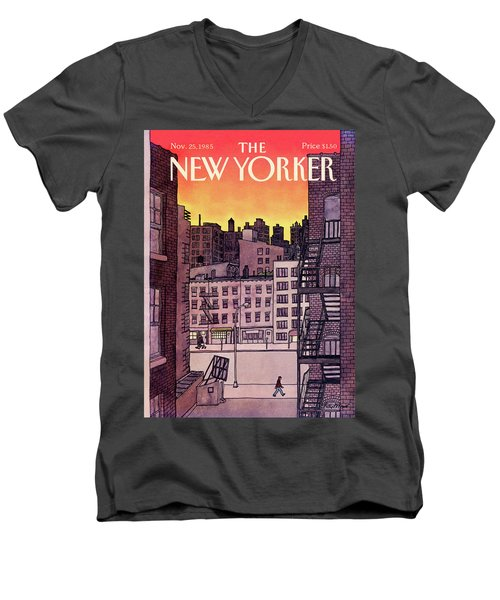 New Yorker November 25th, 1985 Men's V-Neck T-Shirt
