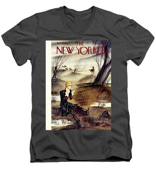 New Yorker November 28 1936 Men's V-Neck T-Shirt