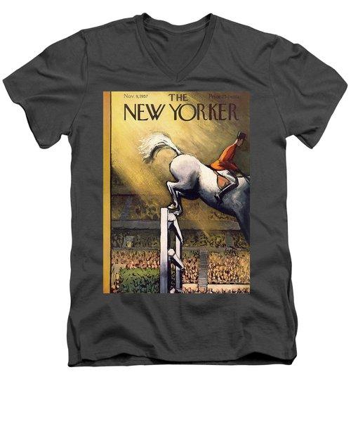 New Yorker November 9th, 1957 Men's V-Neck T-Shirt