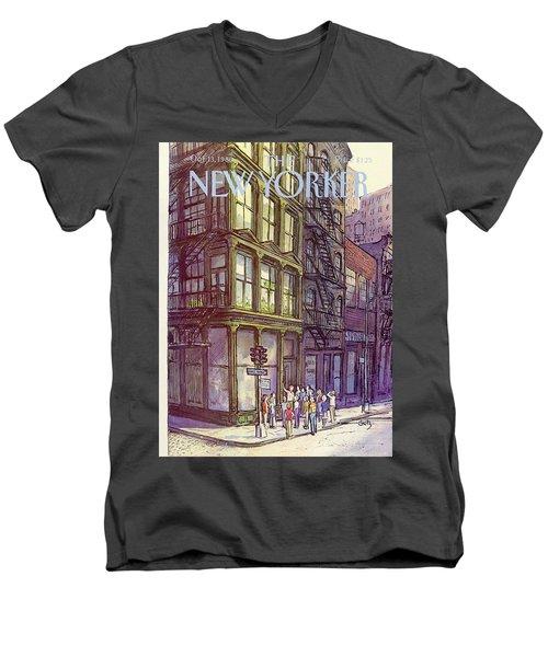 New Yorker October 13th, 1980 Men's V-Neck T-Shirt