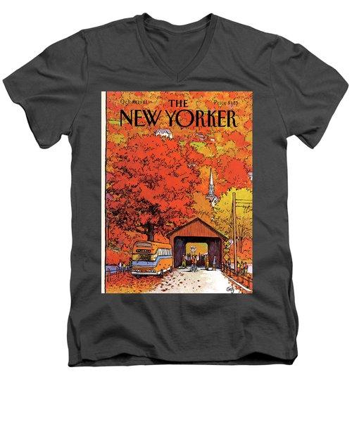 New Yorker October 19th, 1981 Men's V-Neck T-Shirt