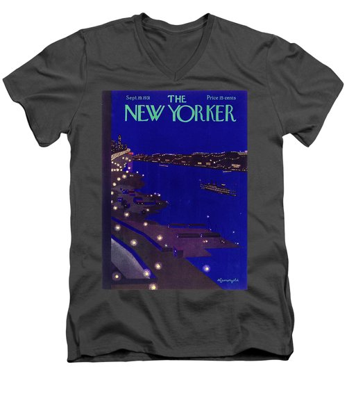 New Yorker September 19 1934 Men's V-Neck T-Shirt