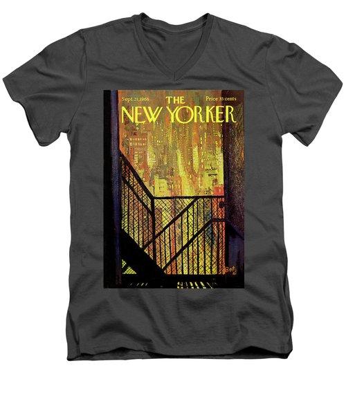 New Yorker September 21st, 1968 Men's V-Neck T-Shirt
