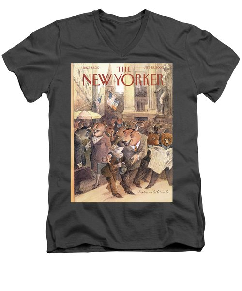 New Yorker September 25th, 2000 Men's V-Neck T-Shirt