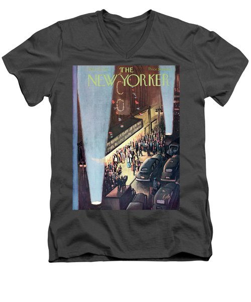 New Yorker September 26th, 1953 Men's V-Neck T-Shirt