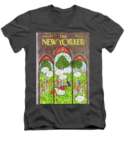 New Yorker September 3rd, 1990 Men's V-Neck T-Shirt