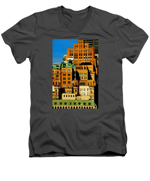 New York Morning Men's V-Neck T-Shirt