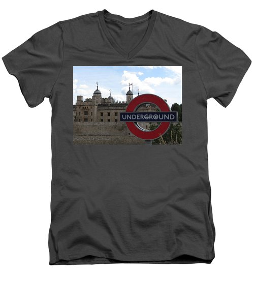 Next Stop Tower Of London Men's V-Neck T-Shirt