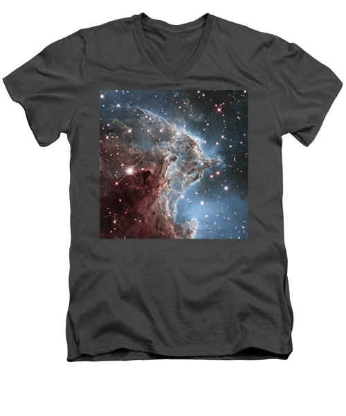 Ngc 2174-nearby Star Factory Men's V-Neck T-Shirt