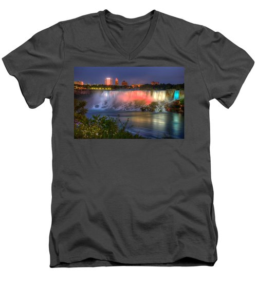 Niagara Falls Canada Sunset  Men's V-Neck T-Shirt