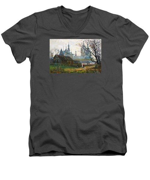 Nicholas Uleyminsky Monastery Men's V-Neck T-Shirt