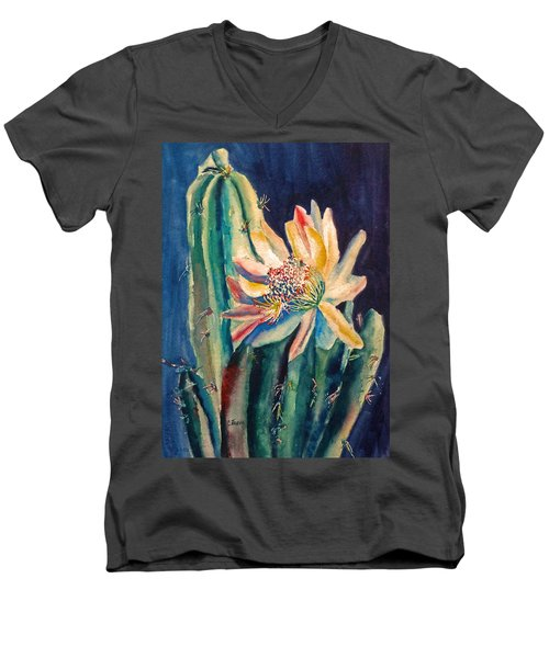 Night Blooming Cactus Men's V-Neck T-Shirt