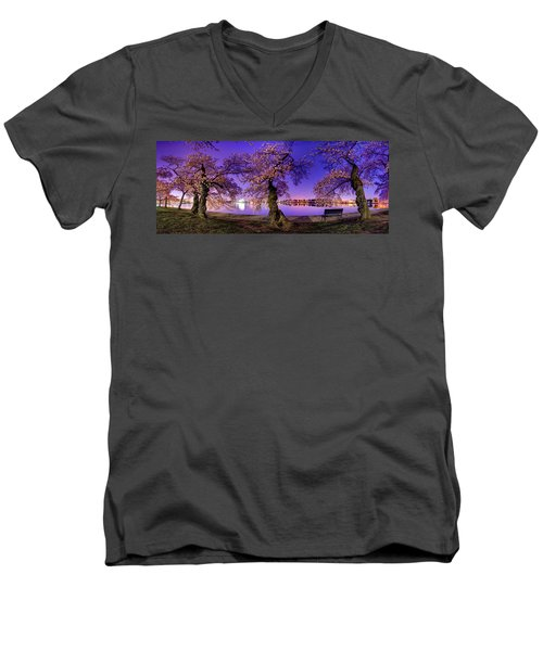 Night Blossoms 2014 Men's V-Neck T-Shirt
