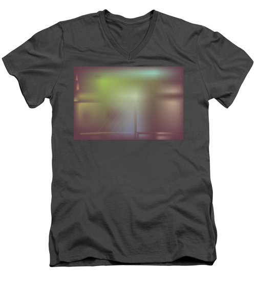 Night Bridge Men's V-Neck T-Shirt by Kevin McLaughlin