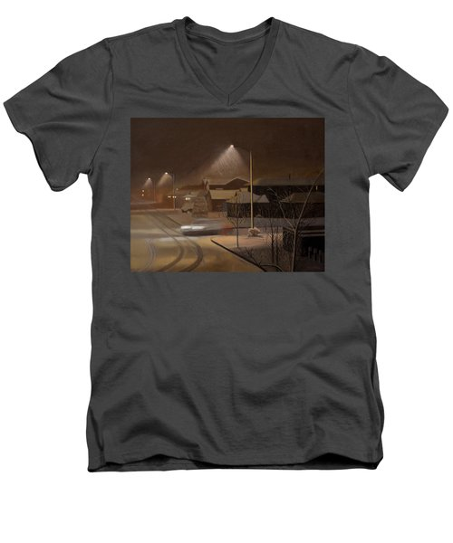 Night Drive Men's V-Neck T-Shirt by Thu Nguyen