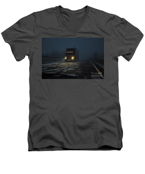 Night Driver Men's V-Neck T-Shirt