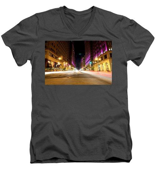 Night Life Men's V-Neck T-Shirt