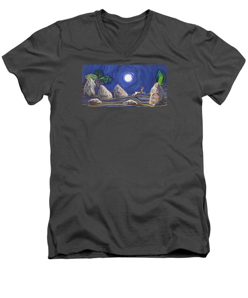 Night Of Mysteries Men's V-Neck T-Shirt