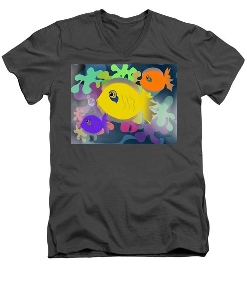 Night Swimming Men's V-Neck T-Shirt