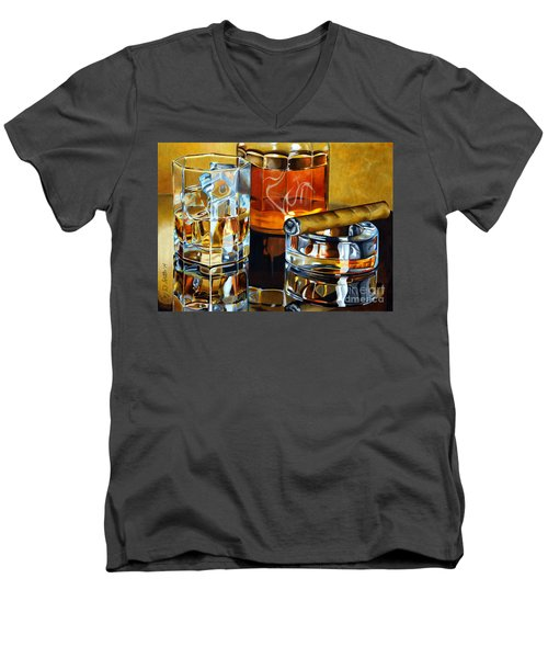 Nightcap 2 Men's V-Neck T-Shirt