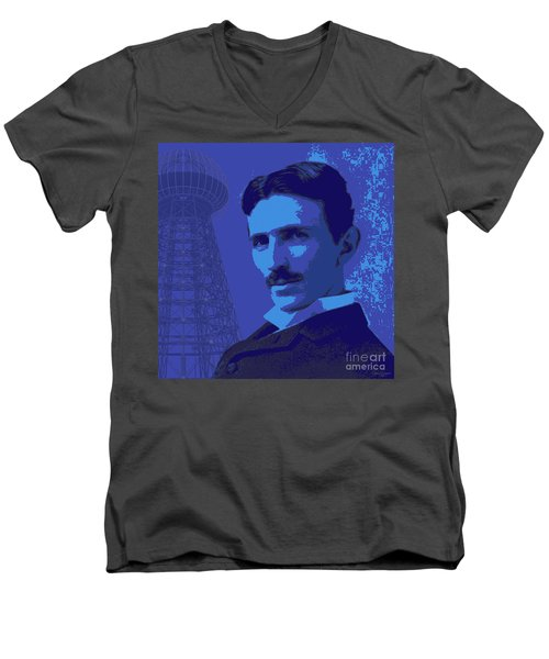 Nikola Tesla #2 Men's V-Neck T-Shirt