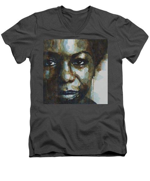 Nina Simone Ain't Got No Men's V-Neck T-Shirt