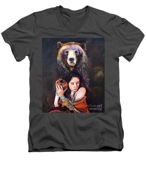 Nine Stars Woman - Bear Medicine Men's V-Neck T-Shirt