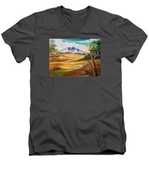 Nipa Hut 2  Men's V-Neck T-Shirt by Remegio Onia