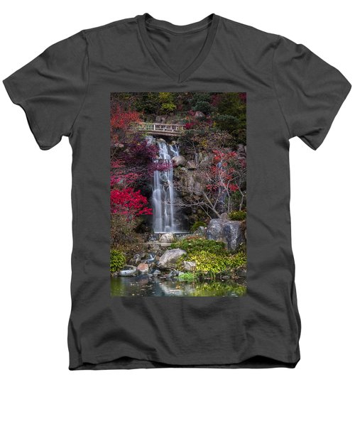 Men's V-Neck T-Shirt featuring the photograph Nishi No Taki by Sebastian Musial