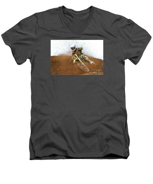 No. 23 Men's V-Neck T-Shirt by Jerry Fornarotto