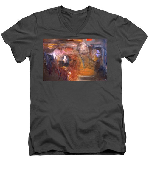 No 3 In A Series Of Human Landscapes Men's V-Neck T-Shirt
