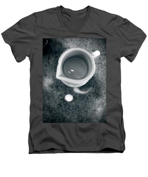 No Cream For My Coffee Men's V-Neck T-Shirt by Bob Orsillo