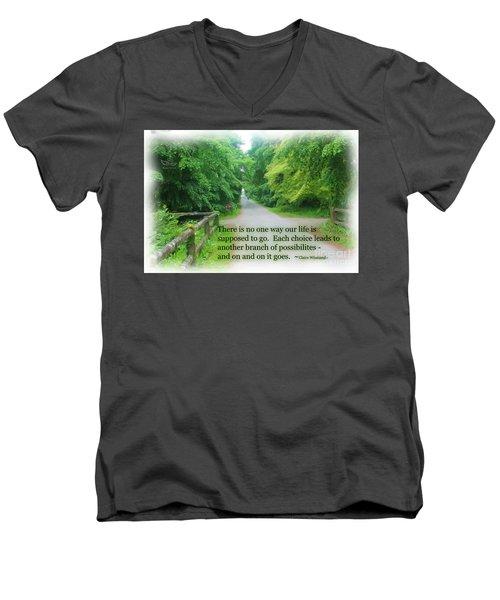No One Way Men's V-Neck T-Shirt