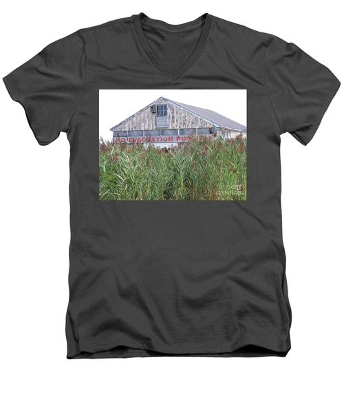 Men's V-Neck T-Shirt featuring the photograph  Newburyport by Eunice Miller