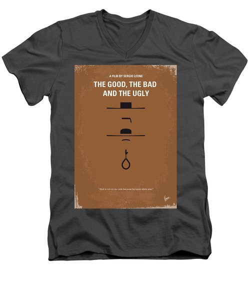 No090 My The Good The Bad The Ugly Minimal Movie Poster Men's V-Neck T-Shirt