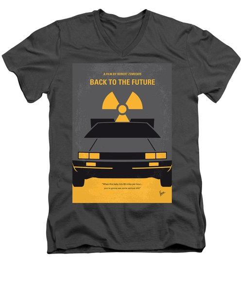 No183 My Back To The Future Minimal Movie Poster Men's V-Neck T-Shirt by Chungkong Art