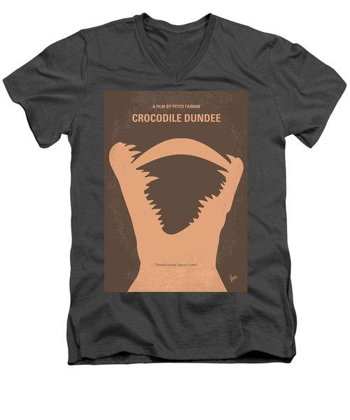 No210 My Crocodile Dundee Minimal Movie Poster Men's V-Neck T-Shirt by Chungkong Art