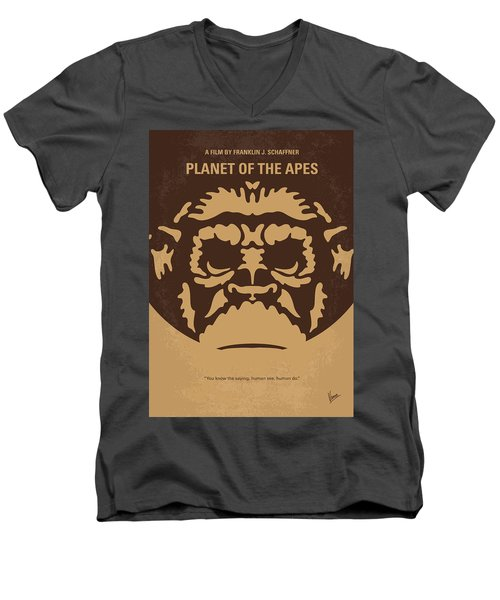 No270 My Planet Of The Apes Minimal Movie Poster Men's V-Neck T-Shirt